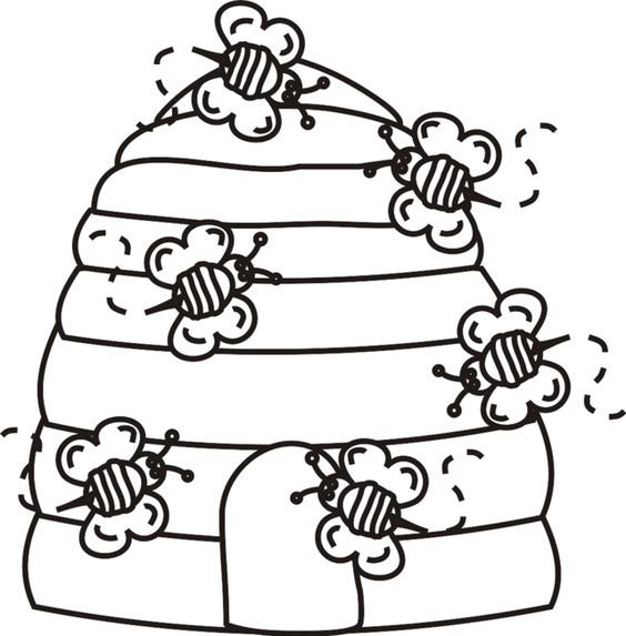 Beehive Bees Coloring Page Greatest Coloring Book Bee Hives Diy