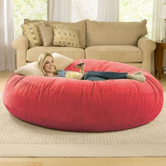 Giant Bean Bag For Movie Watching!