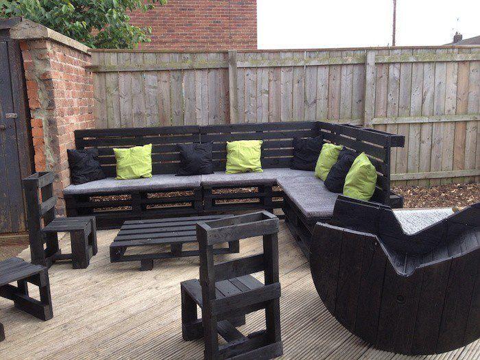 52 id es pour fabriquer votre meuble de jardin en palette for Meuble exterieur en palette