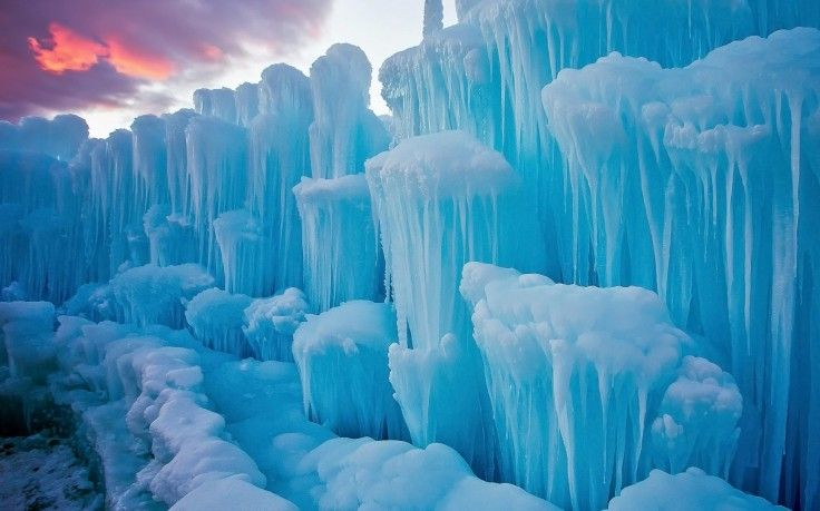 Nature Landscape Winter Snow Ice Iceberg Icicle Blue Clouds Sunset Frost Wallpapers Hd Desktop And Mobile Backgrounds Winter Wallpaper Desktop Winter Wallpaper Landscape Wallpaper