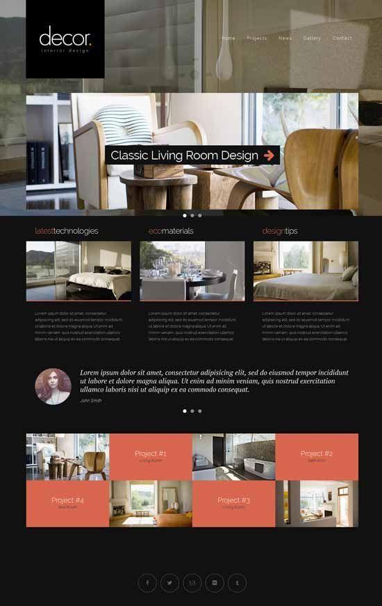 Interior Design & Furniture Website Templates 2016 - Designsmag.org
