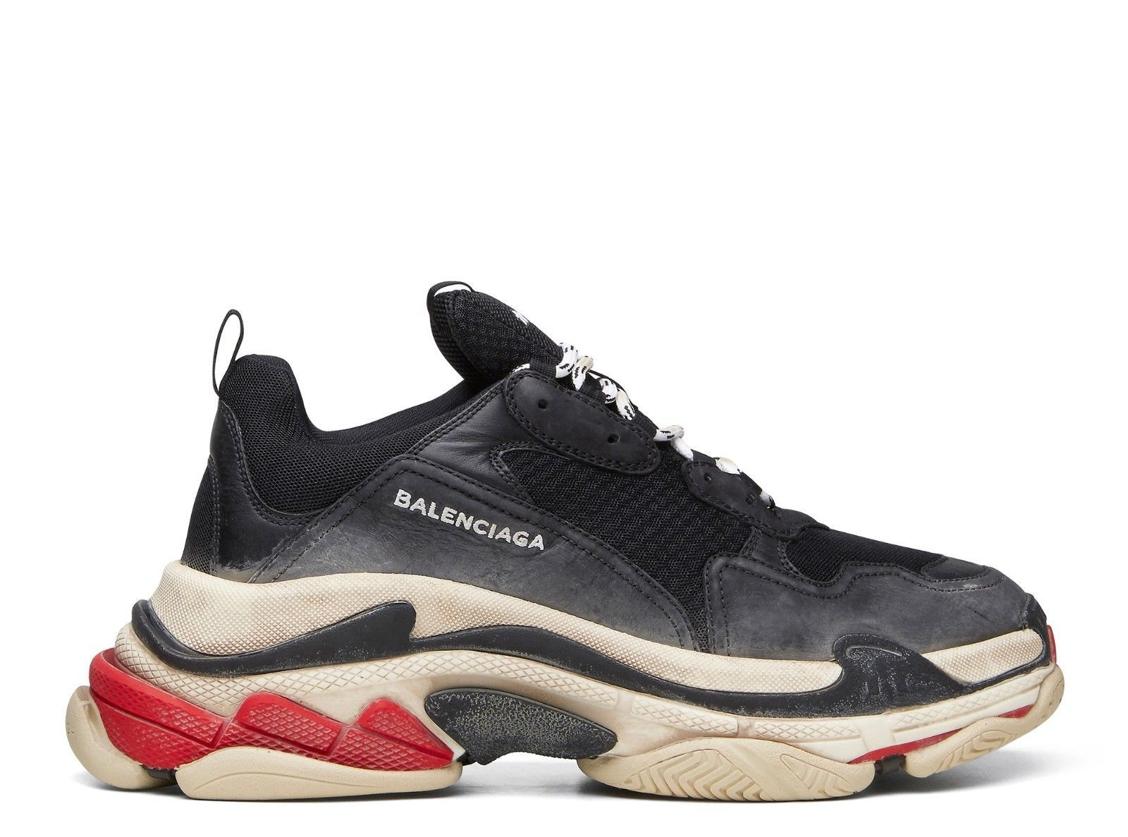13850011ab8 NEW Balenciaga Triple S Black Noir Red White distressed 512175W09O1  trainers og