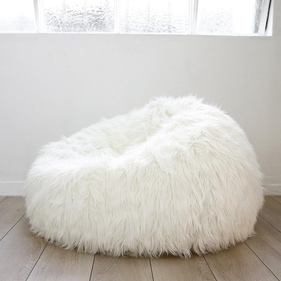 Lush Fur Bean Bag White Fur Bean Bag Small Bean Bag Chairs Faux Fur Bean Bag