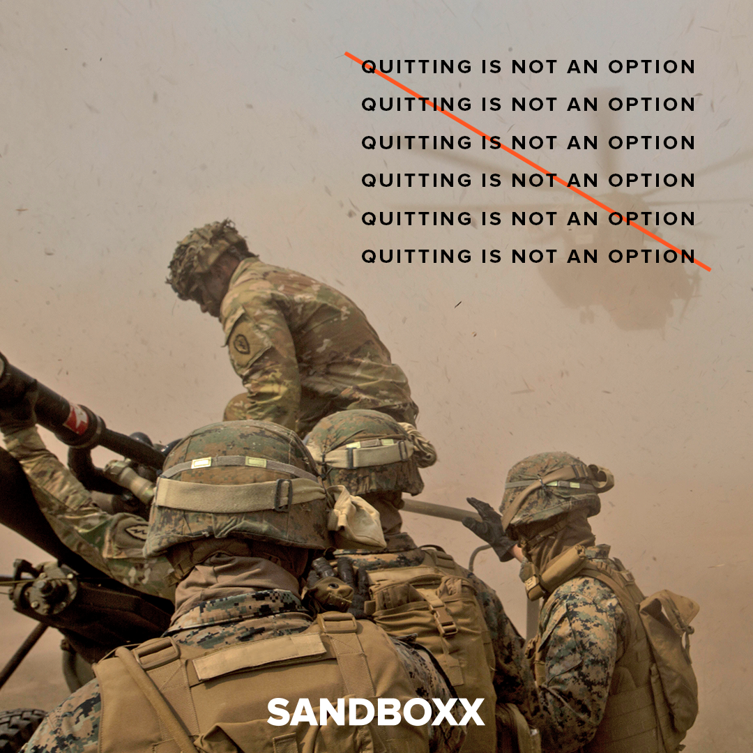 Quitting is not an option usa military