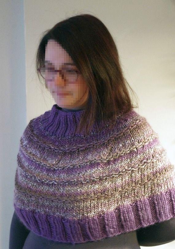 Chauffe-épaule - réalisé au tricot