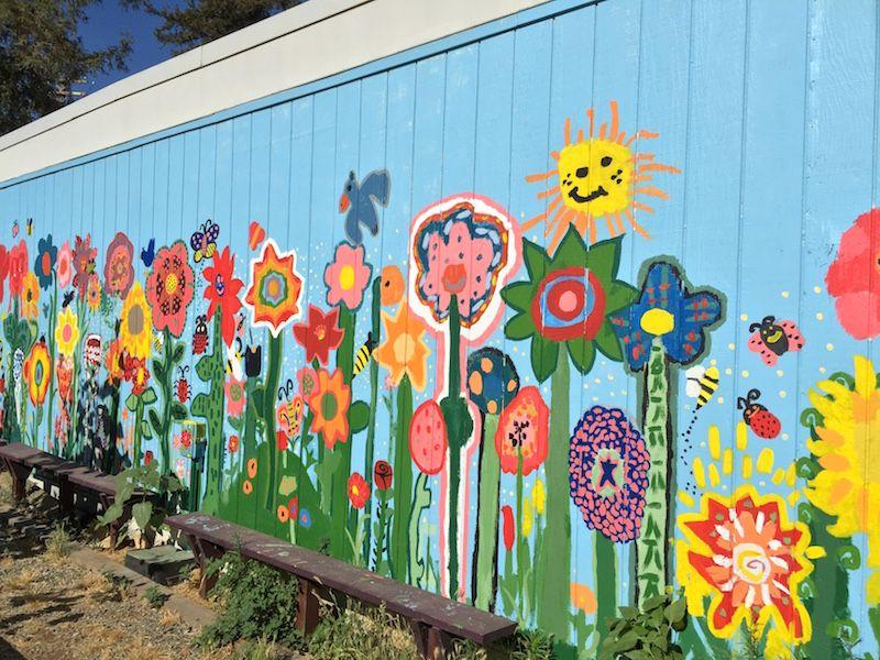 Denair Students Create Unique Garden And Beautiful Mural Garden Mural School Murals Mural Art