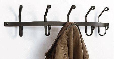 Wrought Iron Coat Hooks 5 Hook Rack Coat And Key Hooks With