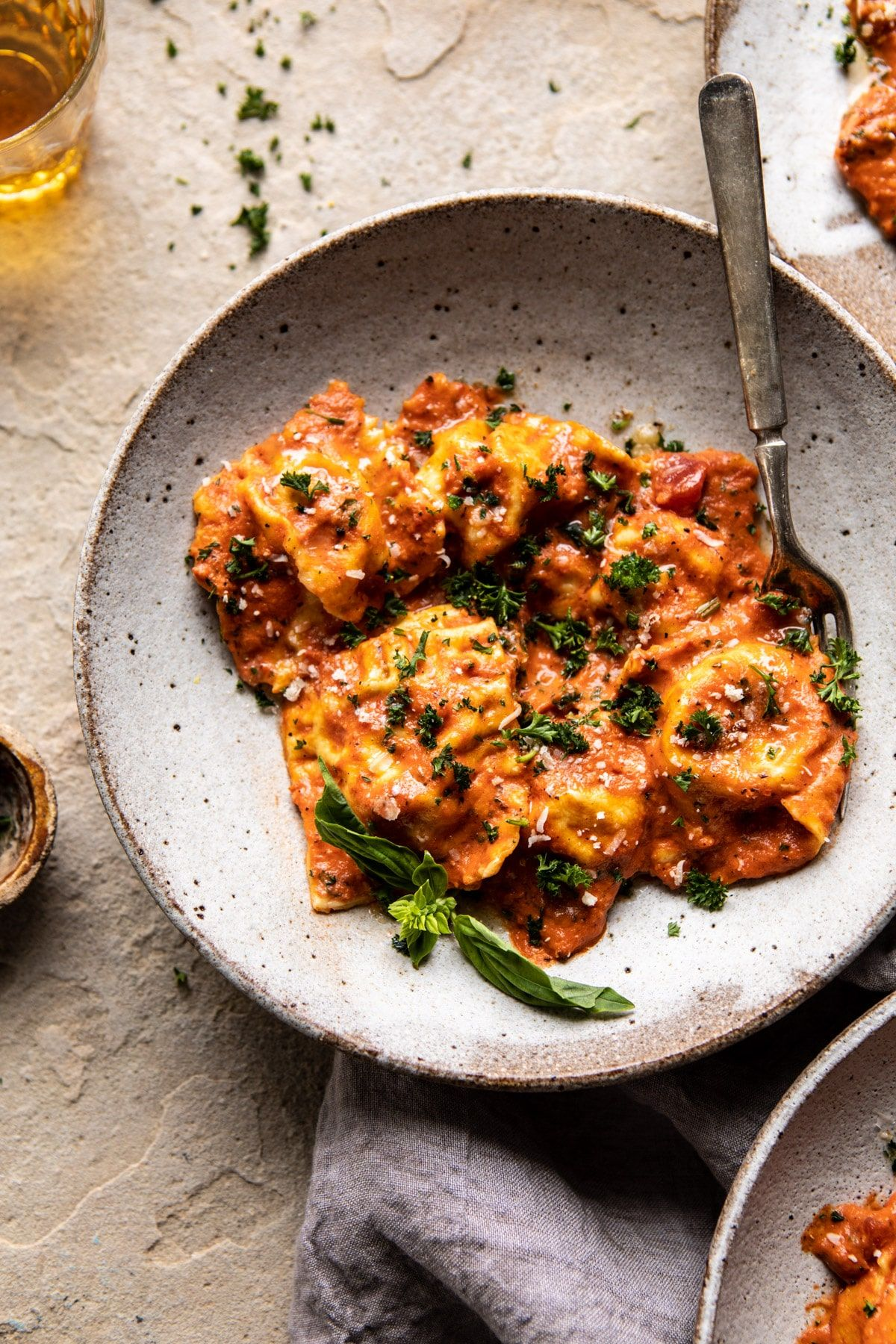 Brown Butter Lobster Ravioli with Tomato Cream Sauce #tomatocreamsauces