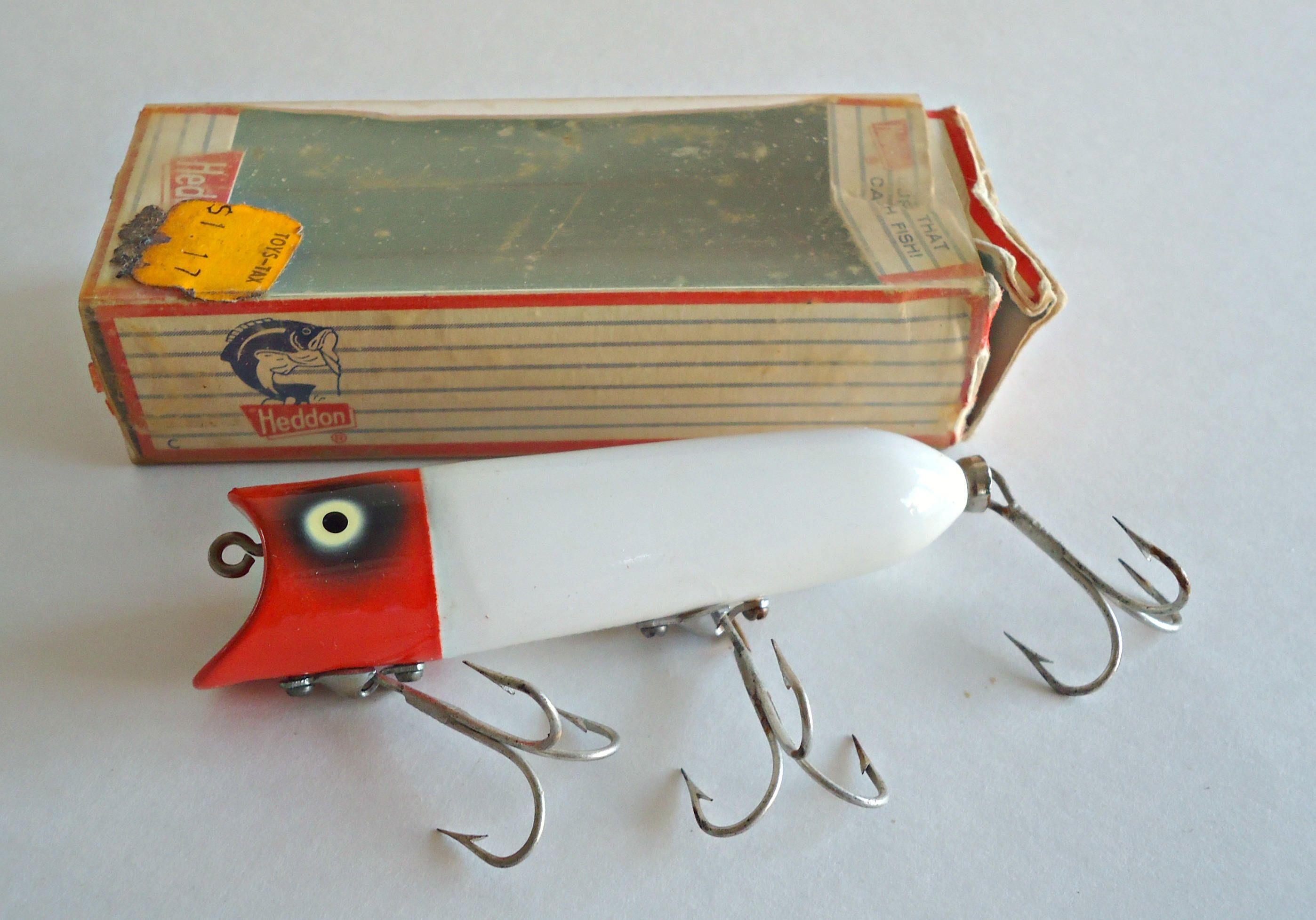 Vintage Heddon Lucky 13 Fishing Lure Original Box 1970's