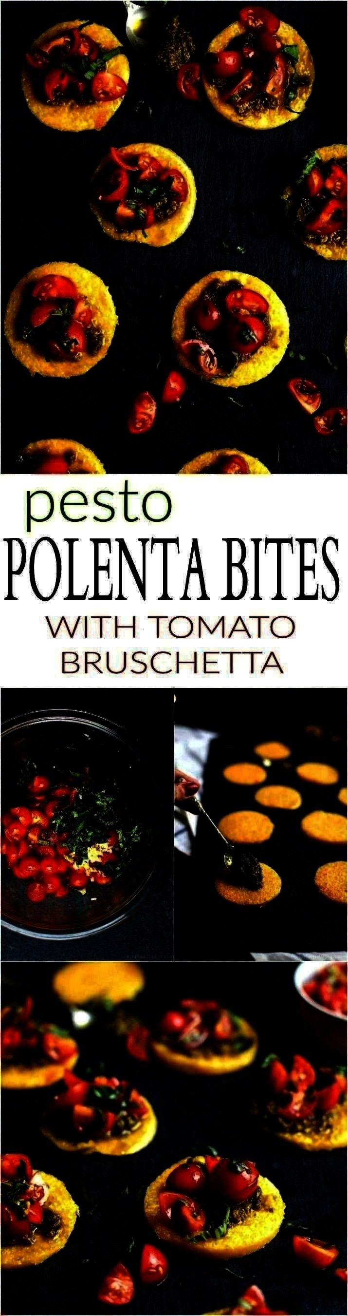 Bites with Tomato Bruschetta Polenta Bites with Tomato Bruschetta Pesto Polenta Bites with Tomato Bruschetta  Caprese Florentine Quiche  Between Friends  Copy Me That cuc...