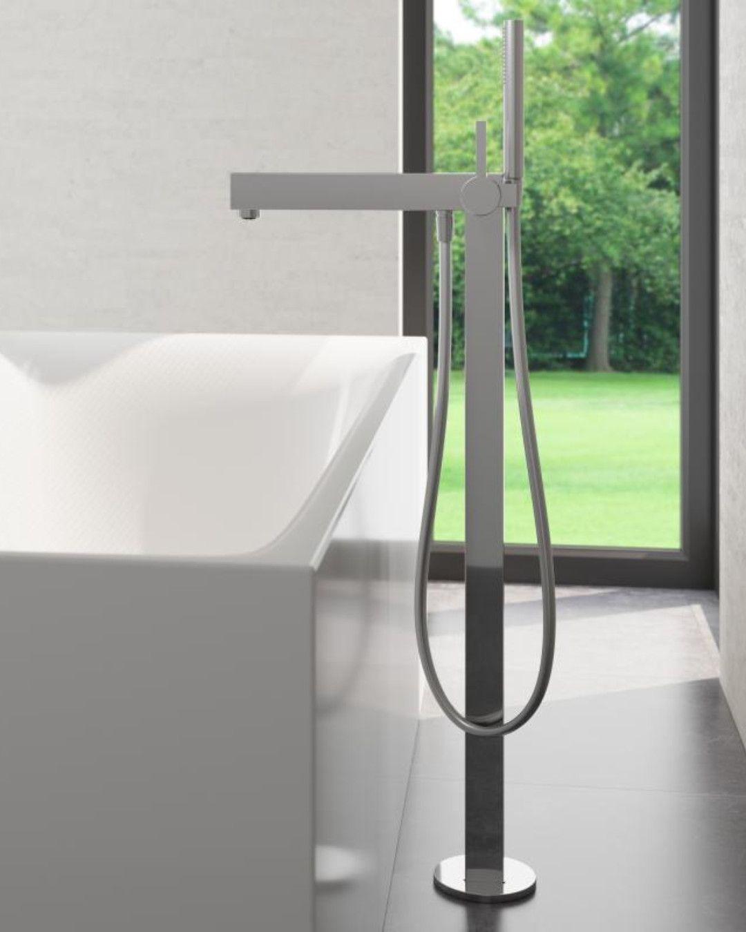 Keuco Edition 90 Einhebel Wannenmischer Fur Bodenmontage 59027010100 In 2020 Handbrause Brausestange Badewanne
