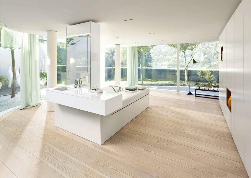 Un l ment tout hauteur permet d 39 installer le miroir et de - Hauteur d un miroir de salle de bain ...