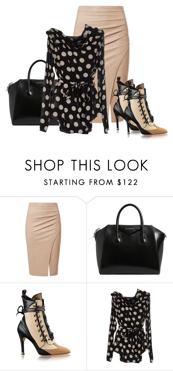 """Black and Tan"" by paperdollsq ❤ liked on Polyvore featuring Givenchy and Isabel de Pedro"