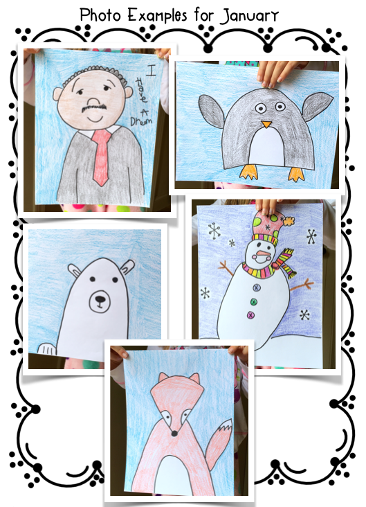 Free Printable Winter Directed Drawing - The Keeper of the