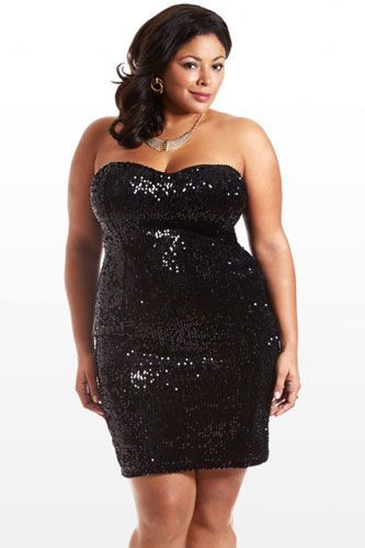 117e4d6f188 The Best Plus-Size Dresses To Help You Sparkle On NYE+ refinery29