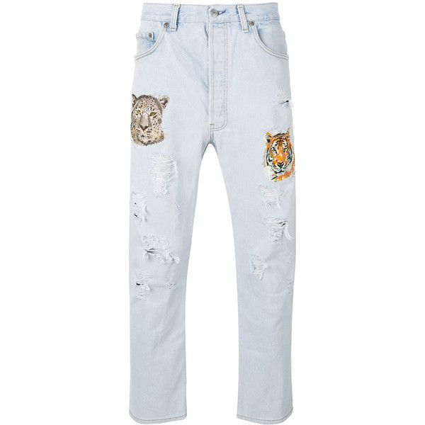 embroidered jeans - Blue HISTORY REPEATS YlVE8oHXiV