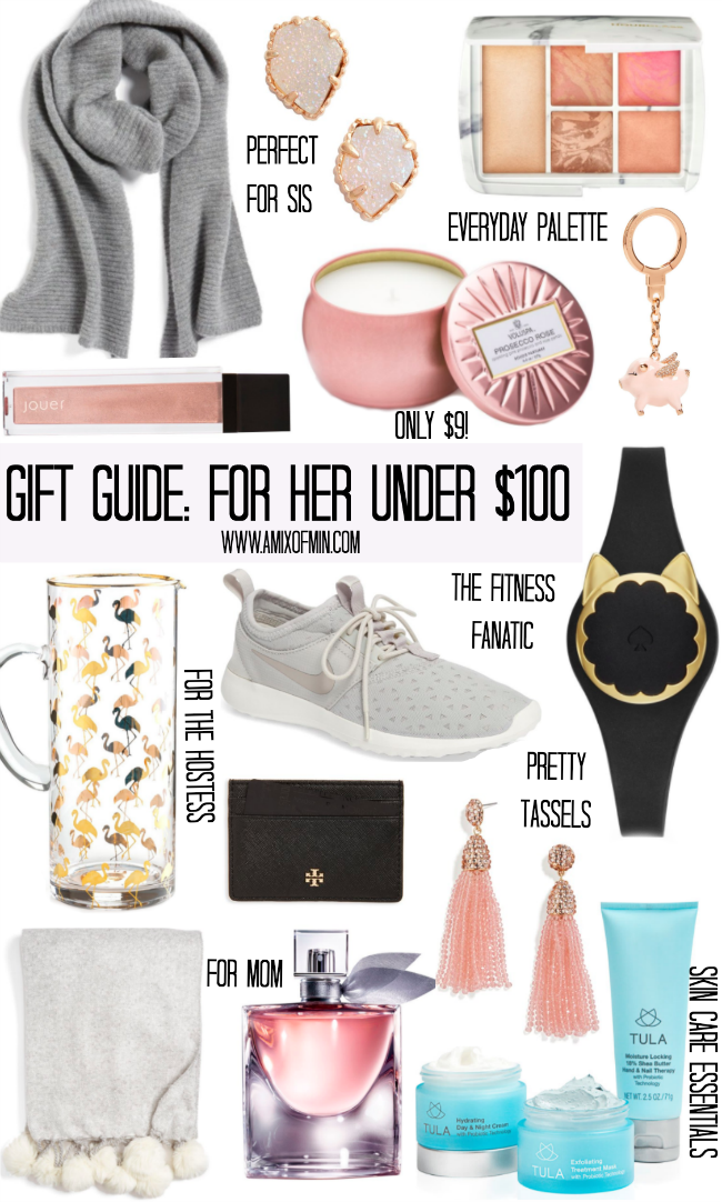 Gift Guide: For Her Under $100 II AMIXOFMIN.COM Christmas Ideas For Wife, - Gift Guide: For Her Under $100 InfluenceHer Collective Pinterest