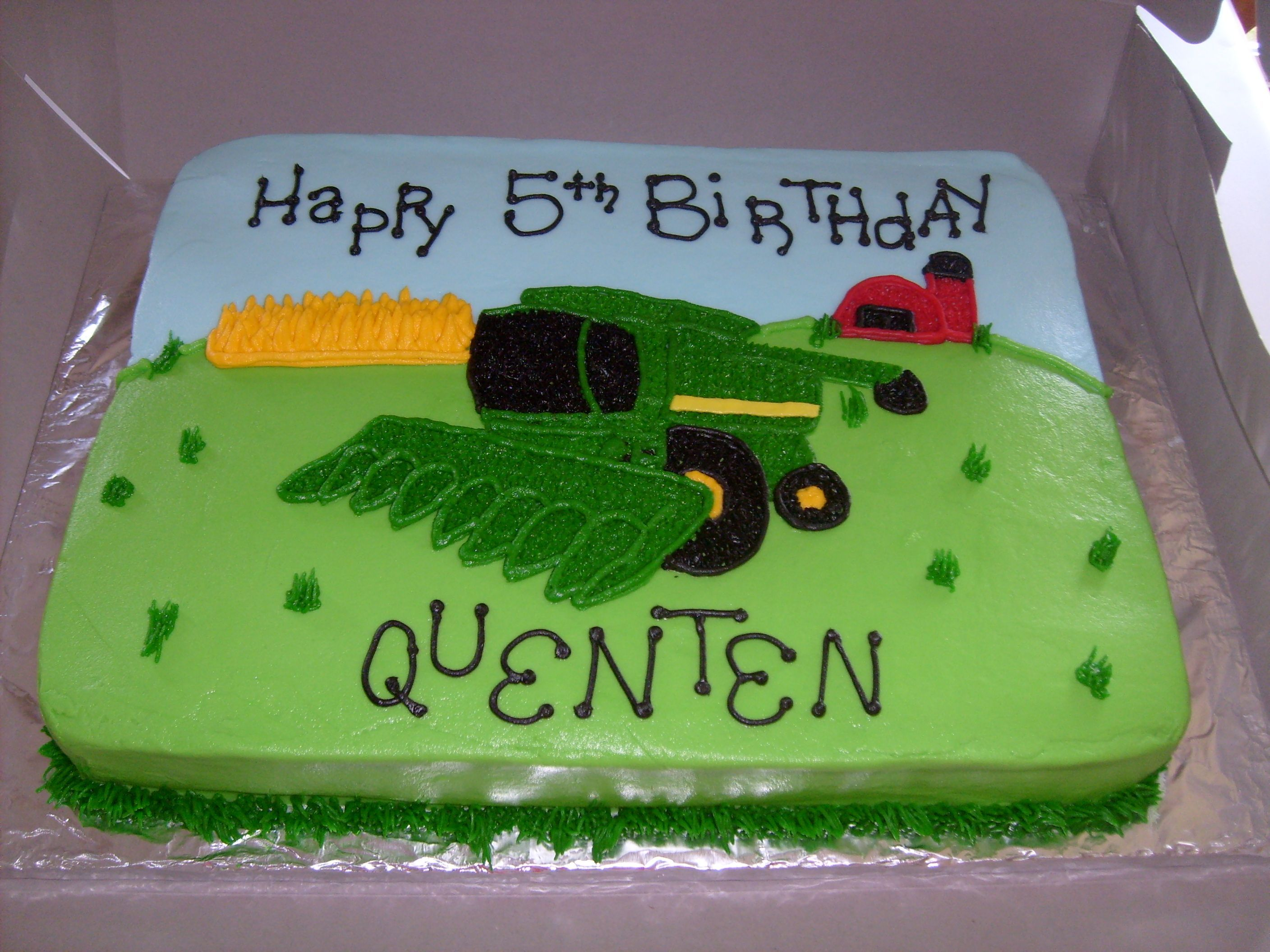 How To Make A Combine Harvester Birthday Cake