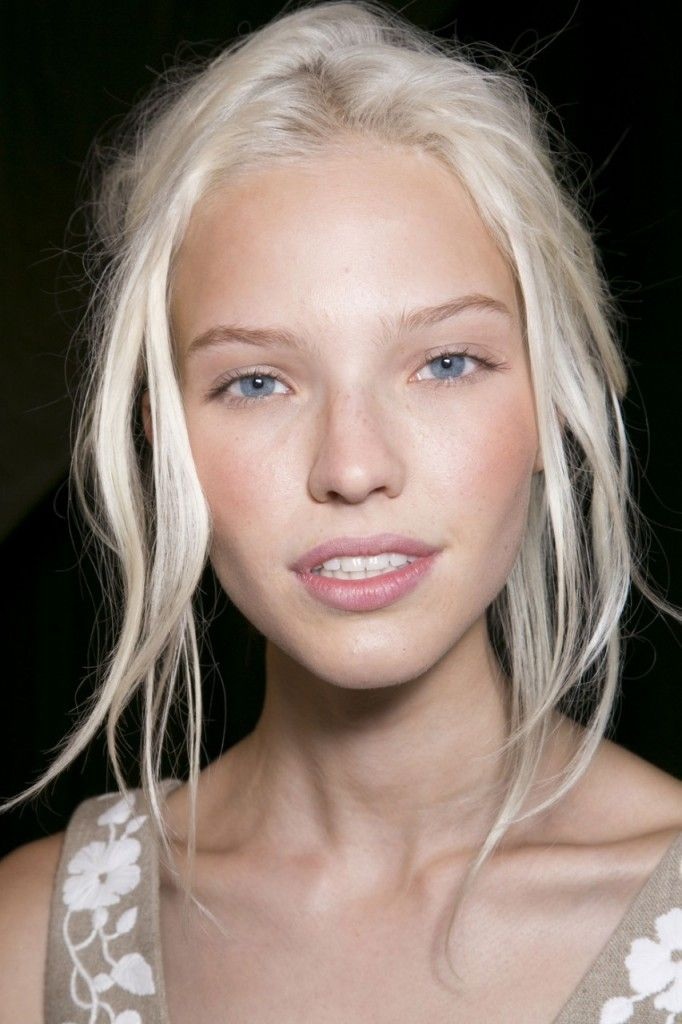 bleached blonde with subtle pink makeup | Hair and Beauty ...
