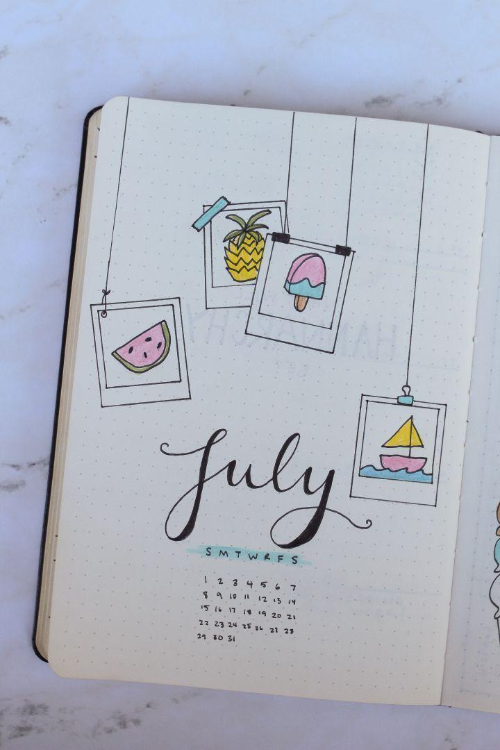 July BuJo Layouts