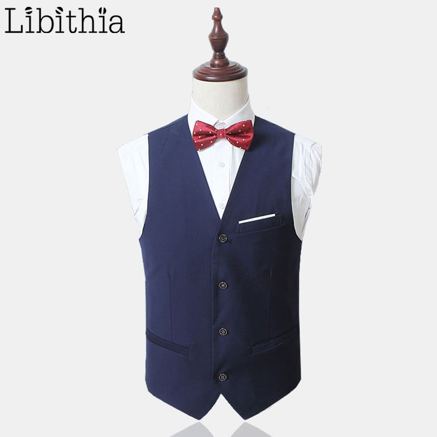 Click to buy ucuc menus formal suit vest wedding business suits men