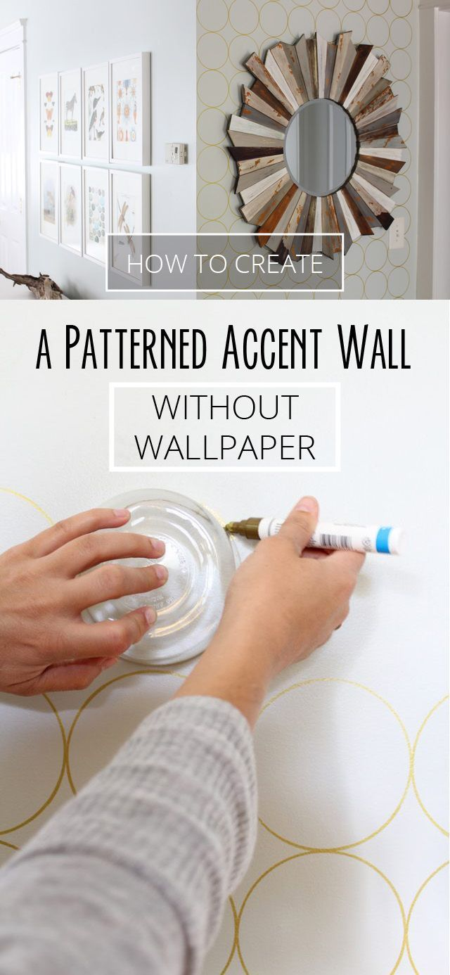 How To Create A Patterned Accent Wall Without Wallpaper Ehow Com Accent Wall Paint Wall Paint Patterns Wallpaper Accent Wall