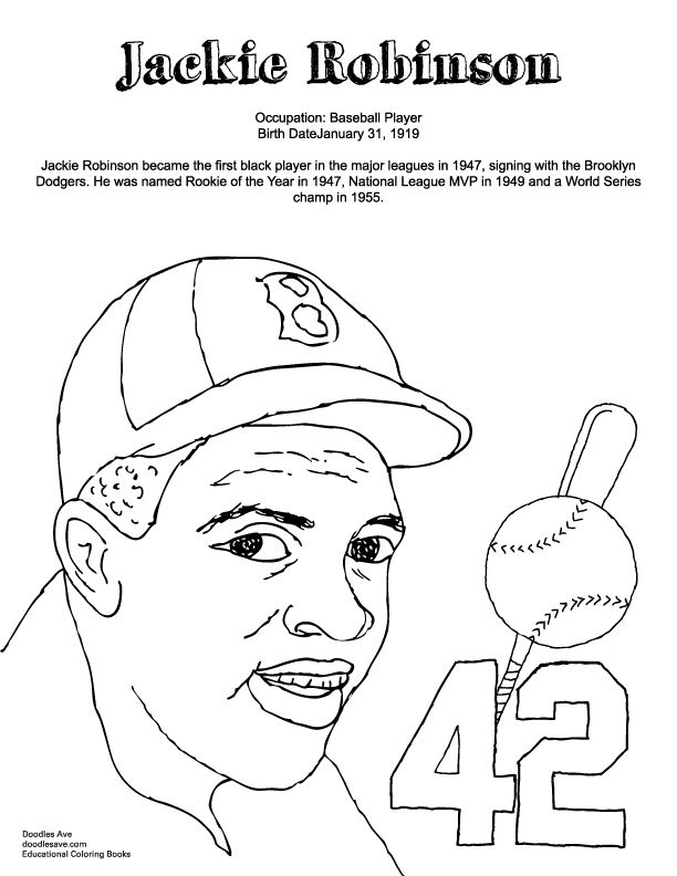 Jackie Robinson Jackie Robinson Jackie Robinson Activities Black History Month Crafts