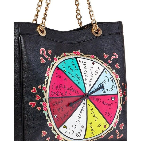 Betsey Johnson Kitch Spinner Tote 108 Liked On Polyvore Featuring Bags Handbags