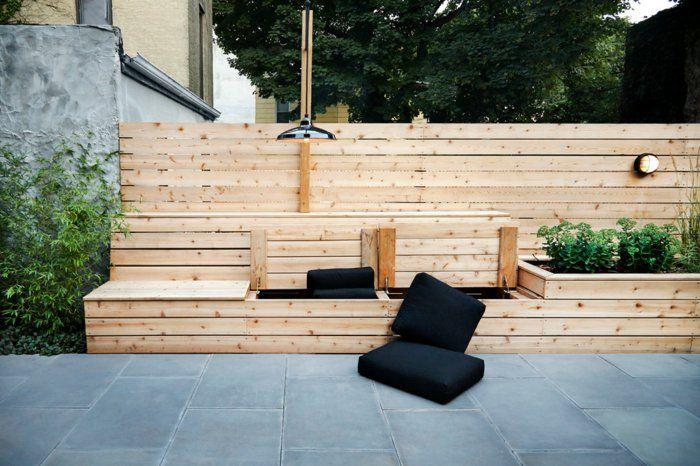 Créer un banc dans ma terrasse en bois exotique דקים ופינות ישיבה