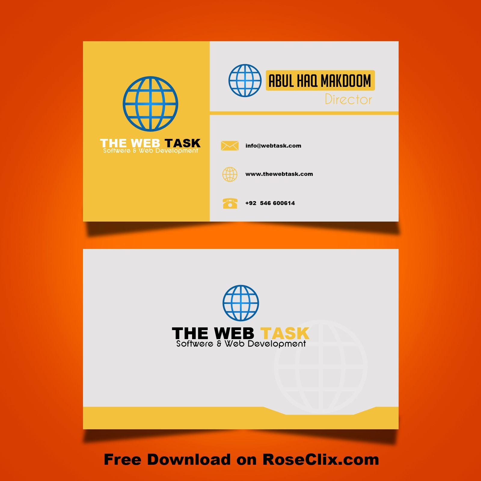 Free Modern Business Card Templates Gallery - Business Card Template