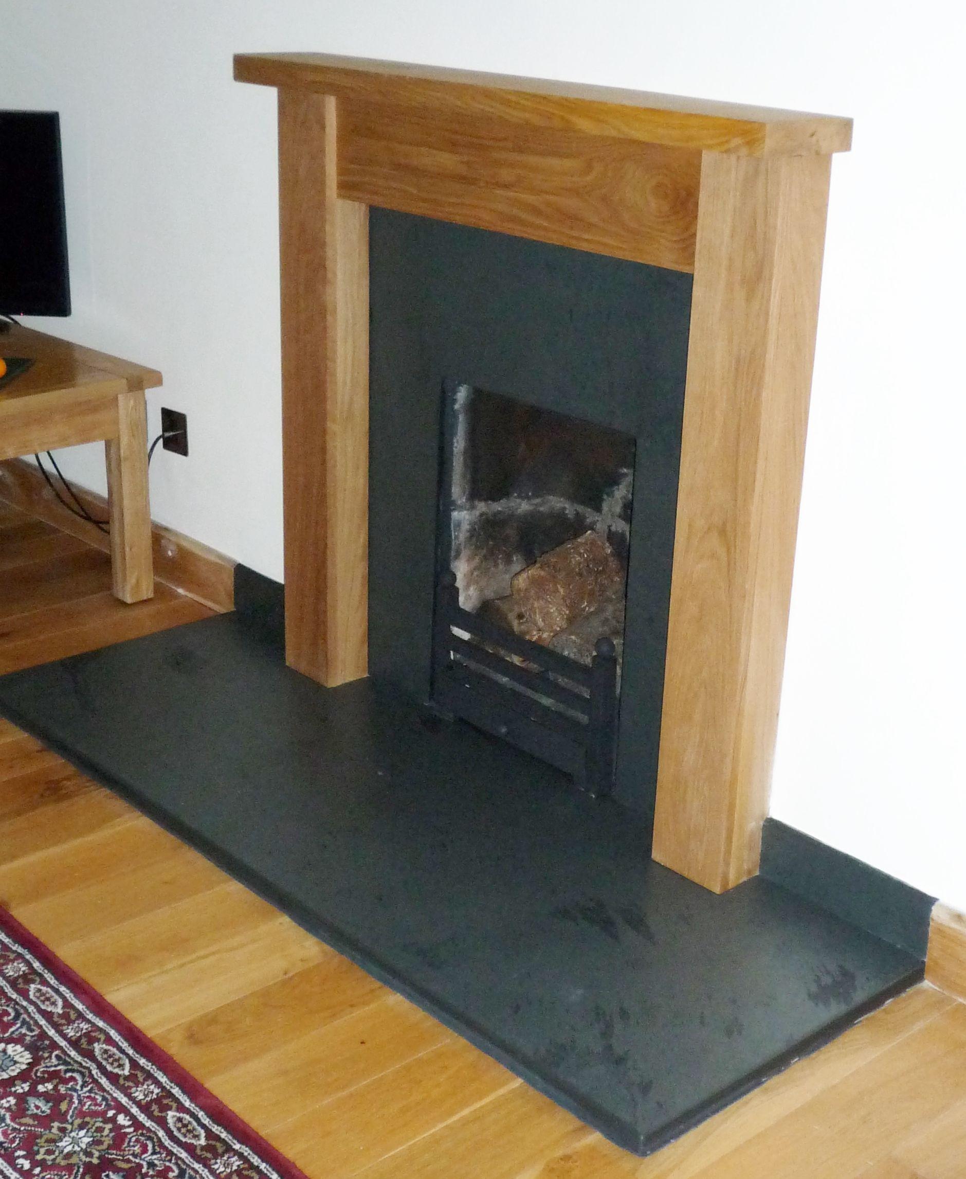 Brazilian black slate fireplace surround home ideas