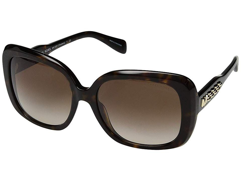 6059353987fc0 Michael Kors 0MK2081 56mm (Dark Tortoise Smoke Gradient) Fashion Sunglasses.  The Michael