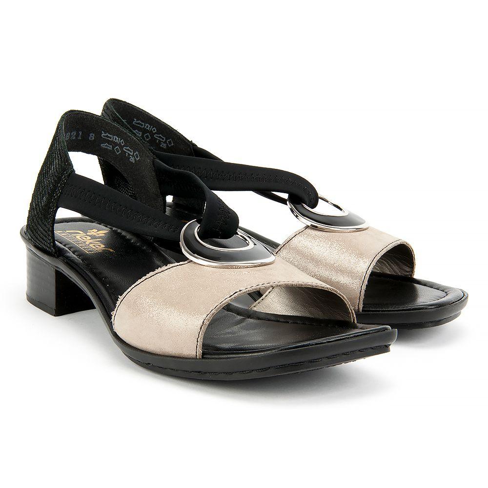 Sandaly Rieker 62689 42 Grey Combination Sandaly Na Koturnie Sandaly Buty Damskie Filippo Pl Rieker Shoes Shoes Rieker