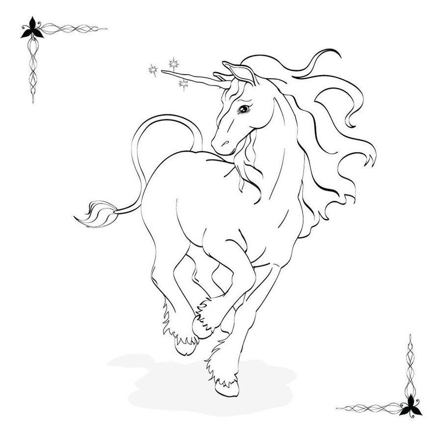 Coloring Book: Unicorn by ~Drelion on deviantART | Unicorns | Pinterest