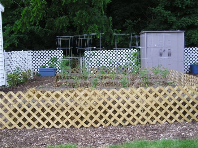 Superb Dress Up Straw Bale Garden With Lattice Fence! (Can You Grow On The Sides