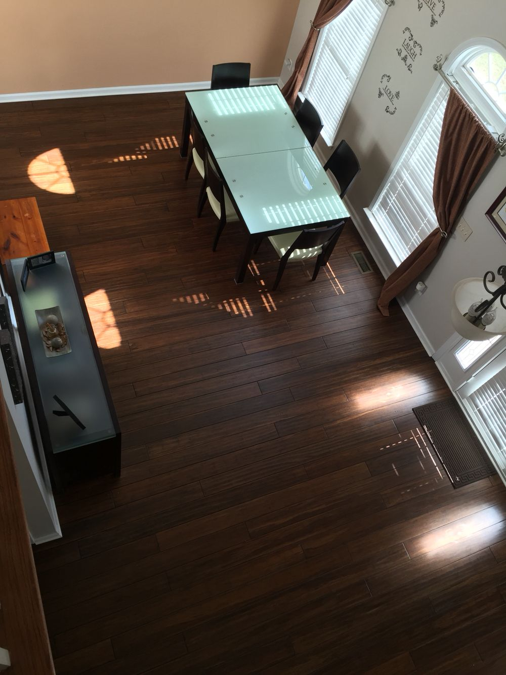Bamboo Laminate Flooring Ideas Love my Antique Java Cali Bamboo floors! #flooringidea #bamboo