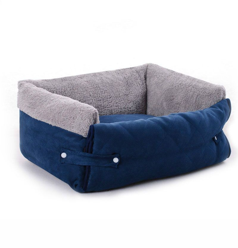 Purple comfortable dog bed