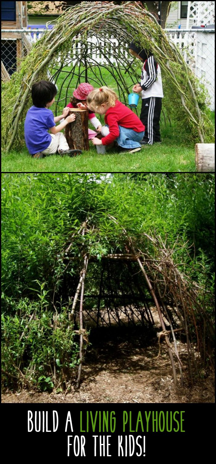 Also known as a bean teepee and similar to a willow playhouse this