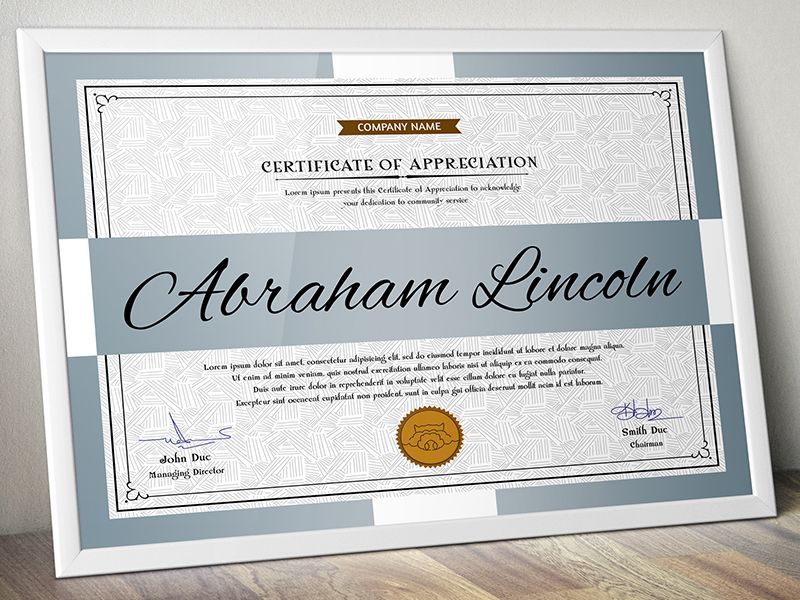 Certificates Gd  Certificate And Graphics