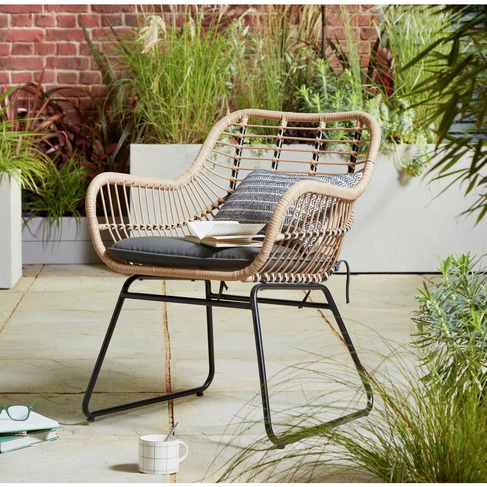 Buy Argos Home Ross Rattan Effect Garden Chair  Garden chairs and