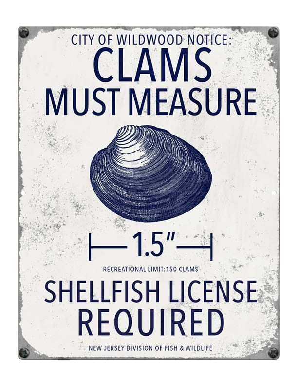 Wildwood NJ Clam Fishing Regulations Ocean city, Ocean