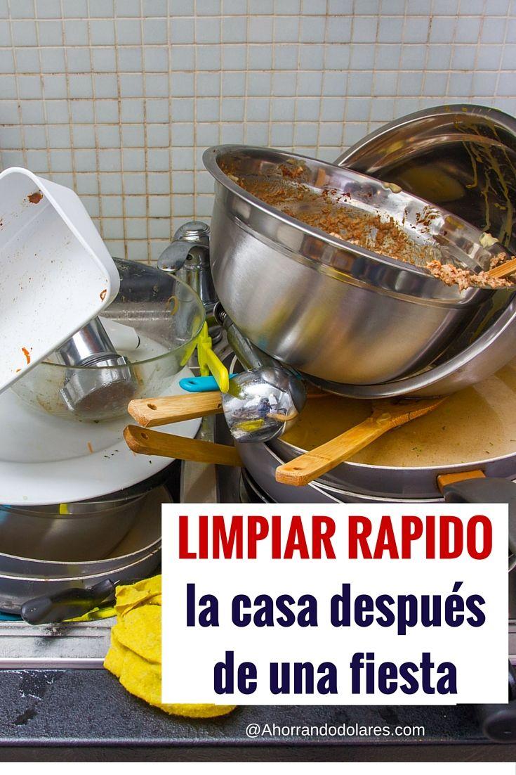 C mo limpiar r pido la casa despu s de una fiesta limpieza hogar limpieza y hogar - Como limpiar rapido ...