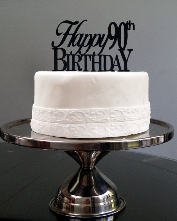 All About Details Happy 90th Birthday Cake Topper 1pc By AADetails