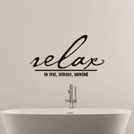 relax wall decal bathroom decal bedroom wall decal wall quotes wall decor vinyl lettering love wall decal