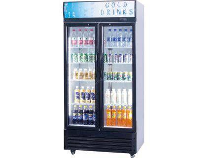 Armoire à boissons réfrigérée à double portes vitrées - 610L Armoire