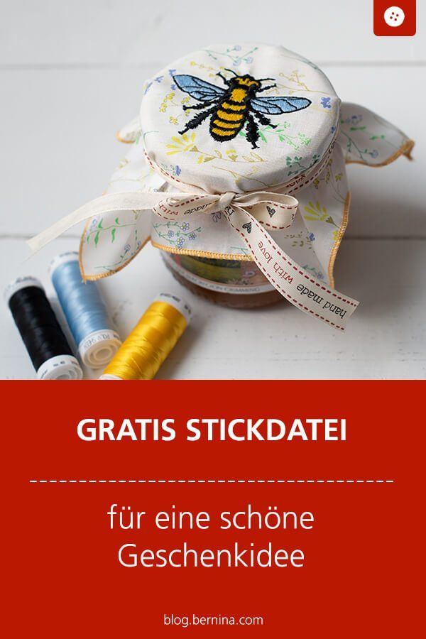 Fichier de broderie gratuit avec un motif d'abeille »Blog BERNINA   – Stickdatei