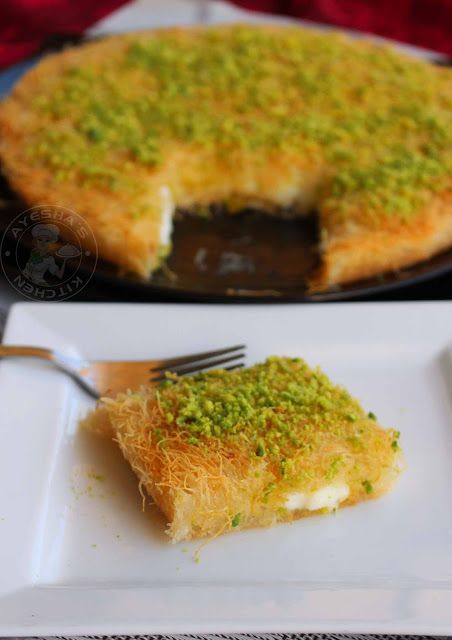 Kunafa Recipe Kunafa With Cheese Arabic Sweet Kunafa Recipe Arabic Sweets Recipes Recipes