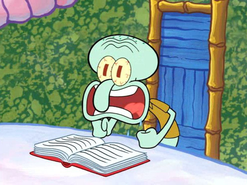 20 Times Squidward Embodied The End Of The Semester
