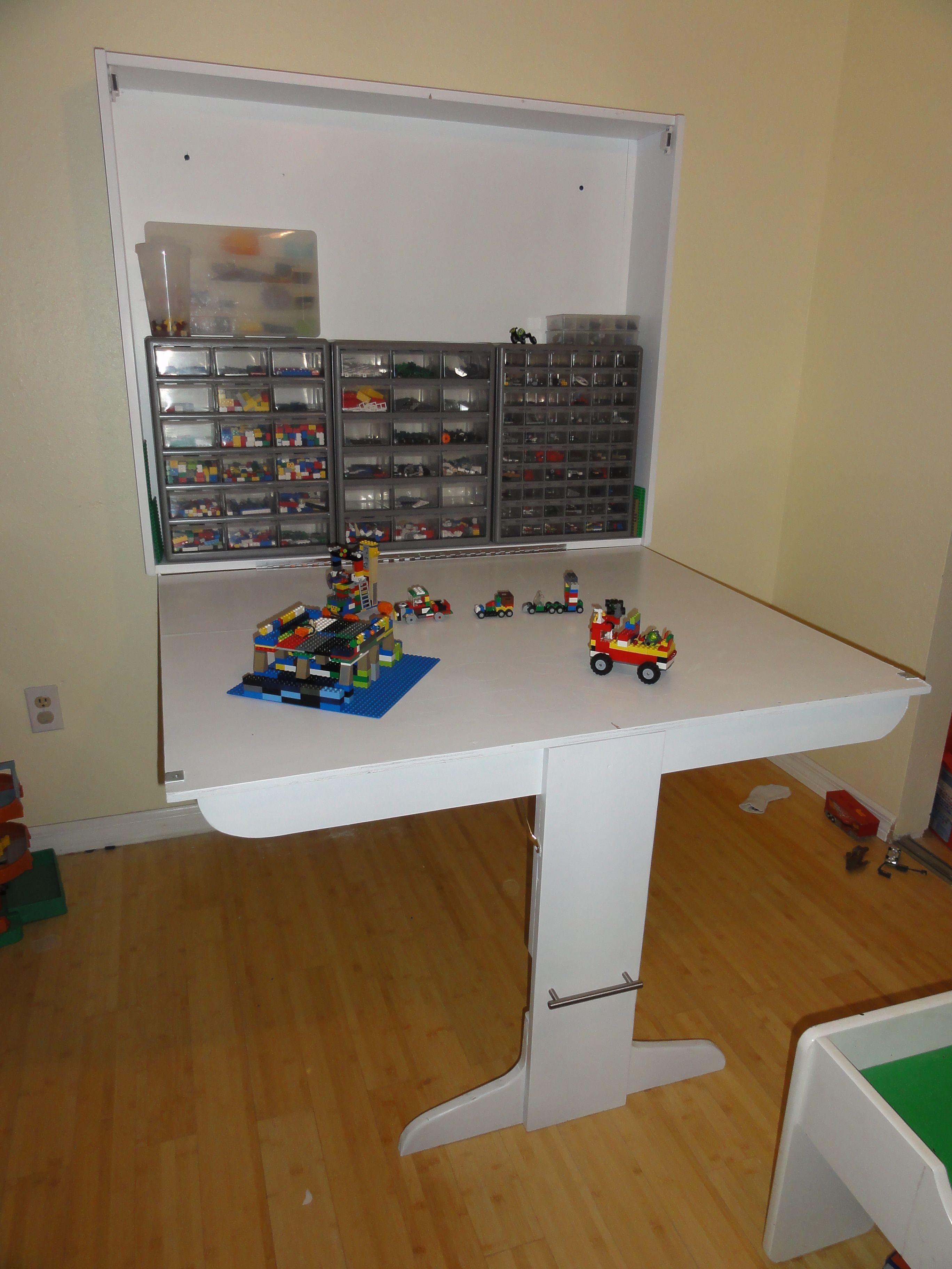 Wall Mounted Lego Table Modify To Make Outdoor Porch