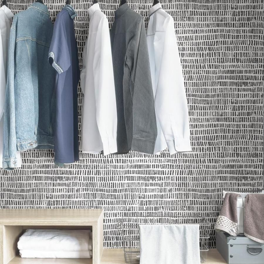 Scott Living 30 75 Sq Ft Charcoal Vinyl Abstract Self Adhesive Peel And Stick Wallpaper Lowes Com Peel And Stick Wallpaper Vinyl Vinyl Fabric